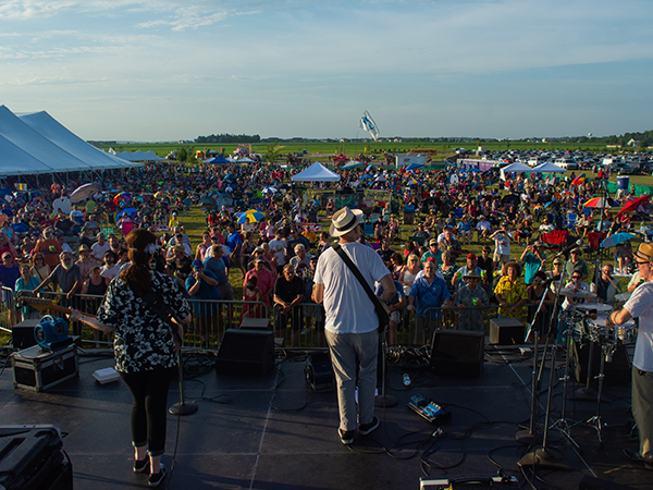 the view from the Blues & BBQ stage