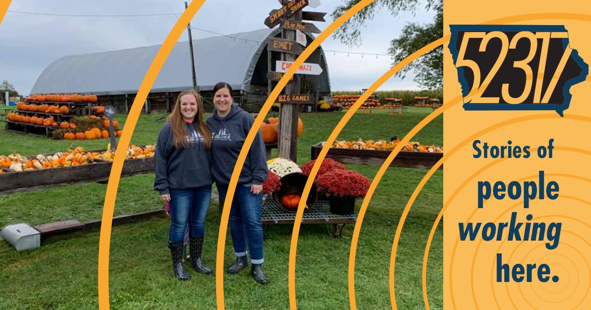 katie christiansen at colony pumpkin patch