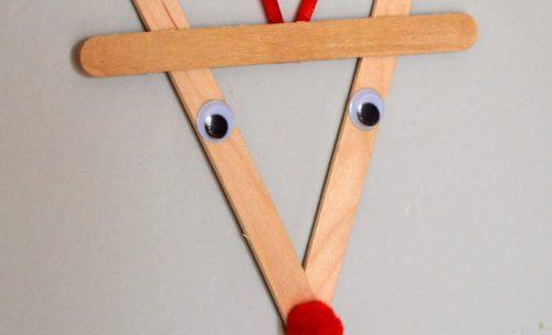 A reindeer ornament.