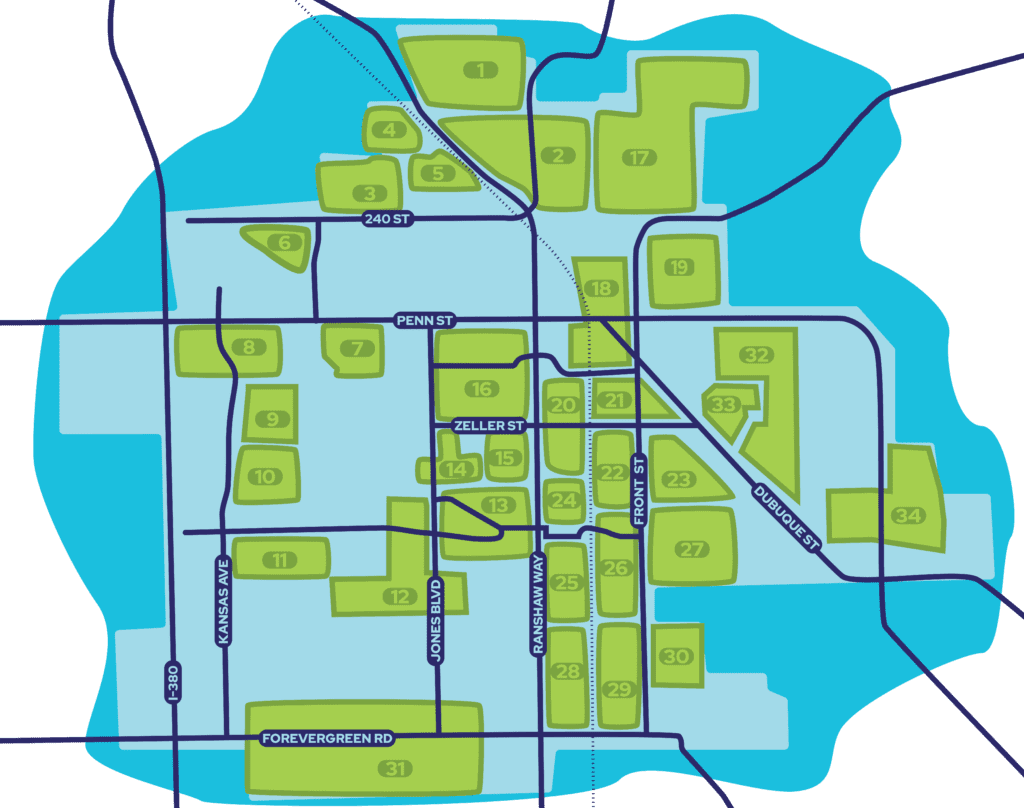 North Liberty Neighborhood Map