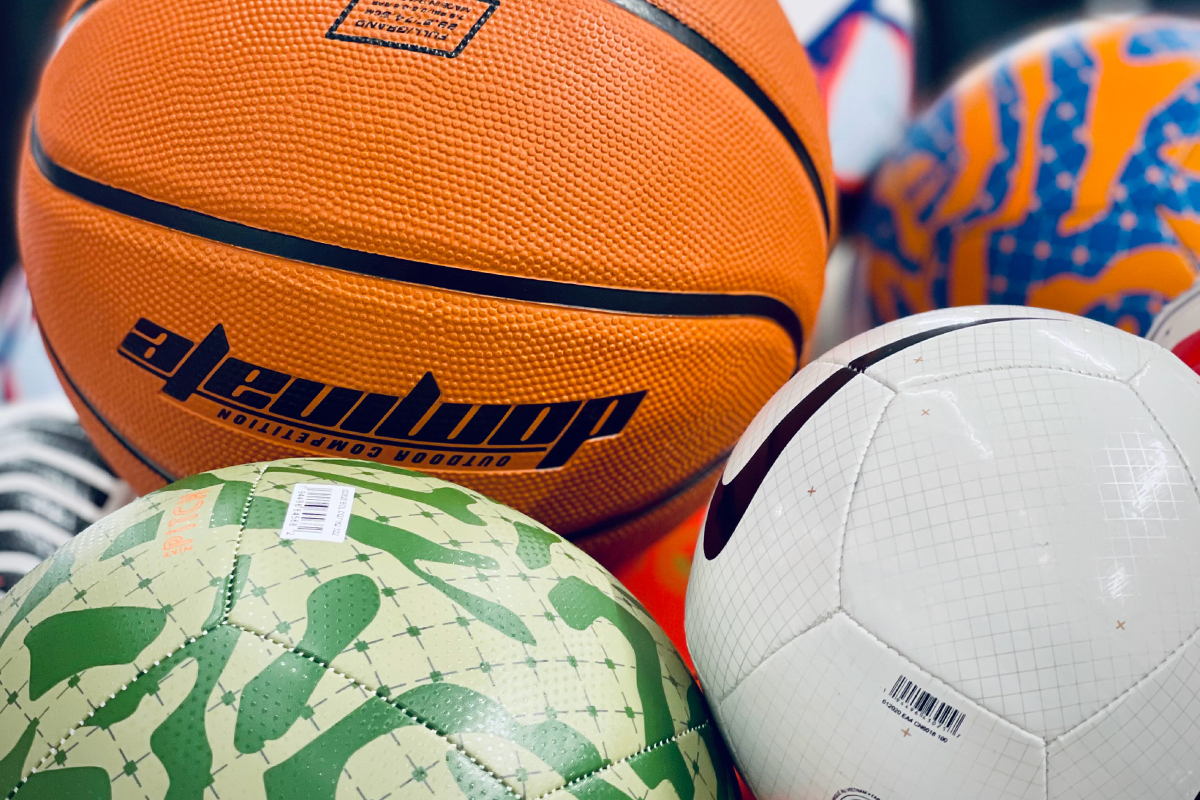 variety of recreation sports balls
