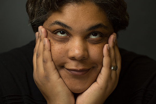 Roxane Gay poses for her photo.